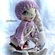 Коллекционные куклы ручной работы. Ярмарка Мастеров - ручная работа. Купить Снегурочка. Handmade. Текстильная кукла, подарок, снегурочка, лён