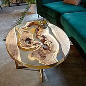 Для дома и интерьера handmade. Livemaster - original item Table made of elm in the epoxy. Handmade.