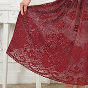 """Одежда ручной работы. Ярмарка Мастеров - ручная работа """"Роза Баркароле"""" роскошная вязаная крючком кружевная юбка с розами. Handmade."""