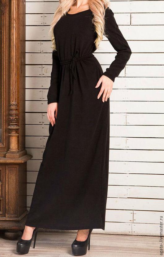 Платья ручной работы. Ярмарка Мастеров - ручная работа. Купить платье черное из ангоры. Handmade. Черный, теплое платье, ангора