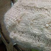 Аксессуары ручной работы. Ярмарка Мастеров - ручная работа Варежки с аранами из козьей шерсти. Handmade.