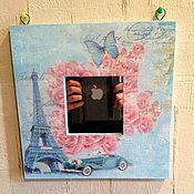 Для дома и интерьера ручной работы. Ярмарка Мастеров - ручная работа Зеркало Икеа настенное декупаж Париж, Франция. Handmade.