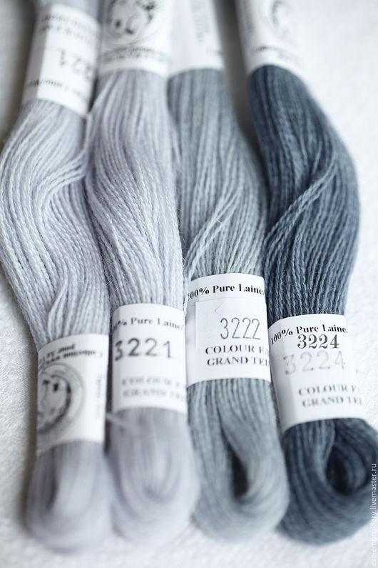 №  3221, № 3222, № 3224 шерсть Au Ver A Soie (Франция), растяжка цвета