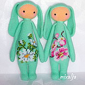 Куклы и игрушки ручной работы. Ярмарка Мастеров - ручная работа весенние зайки. Handmade.