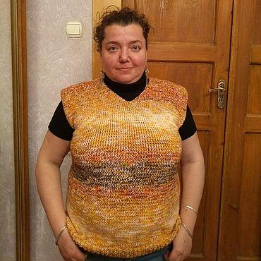Одежда ручной работы. Ярмарка Мастеров - ручная работа Жилет меланжевый унисекс. Handmade.