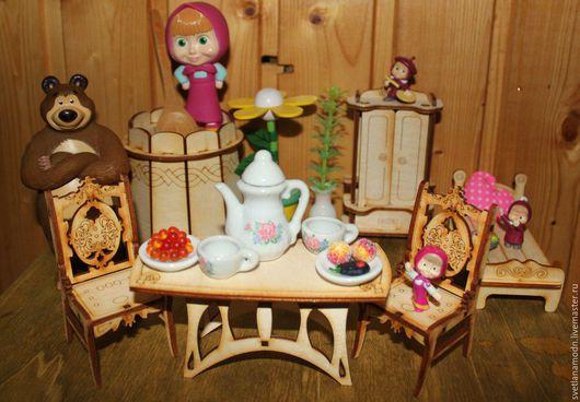 Декупаж и роспись ручной работы. Ярмарка Мастеров - ручная работа. Купить Кукольная мебель в ассортименте. Handmade. Бежевый, стул для куклы