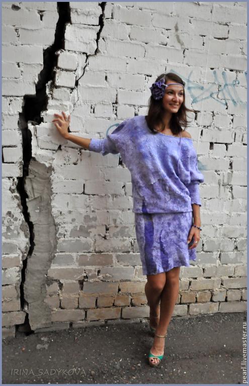 Платья ручной работы. Ярмарка Мастеров - ручная работа. Купить Платье Лаванда. Handmade. Сиреневый, натуральный шелк