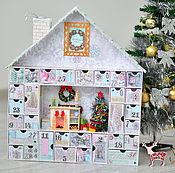 Подарки ручной работы. Ярмарка Мастеров - ручная работа Адвент календарь с миниатюрой и освещением + примеры заданий. Handmade.