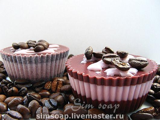 Шоколадный шокк Мыло в бумажных тарталетках . С ухаживающими маслами , аромат тёмного шоколада.