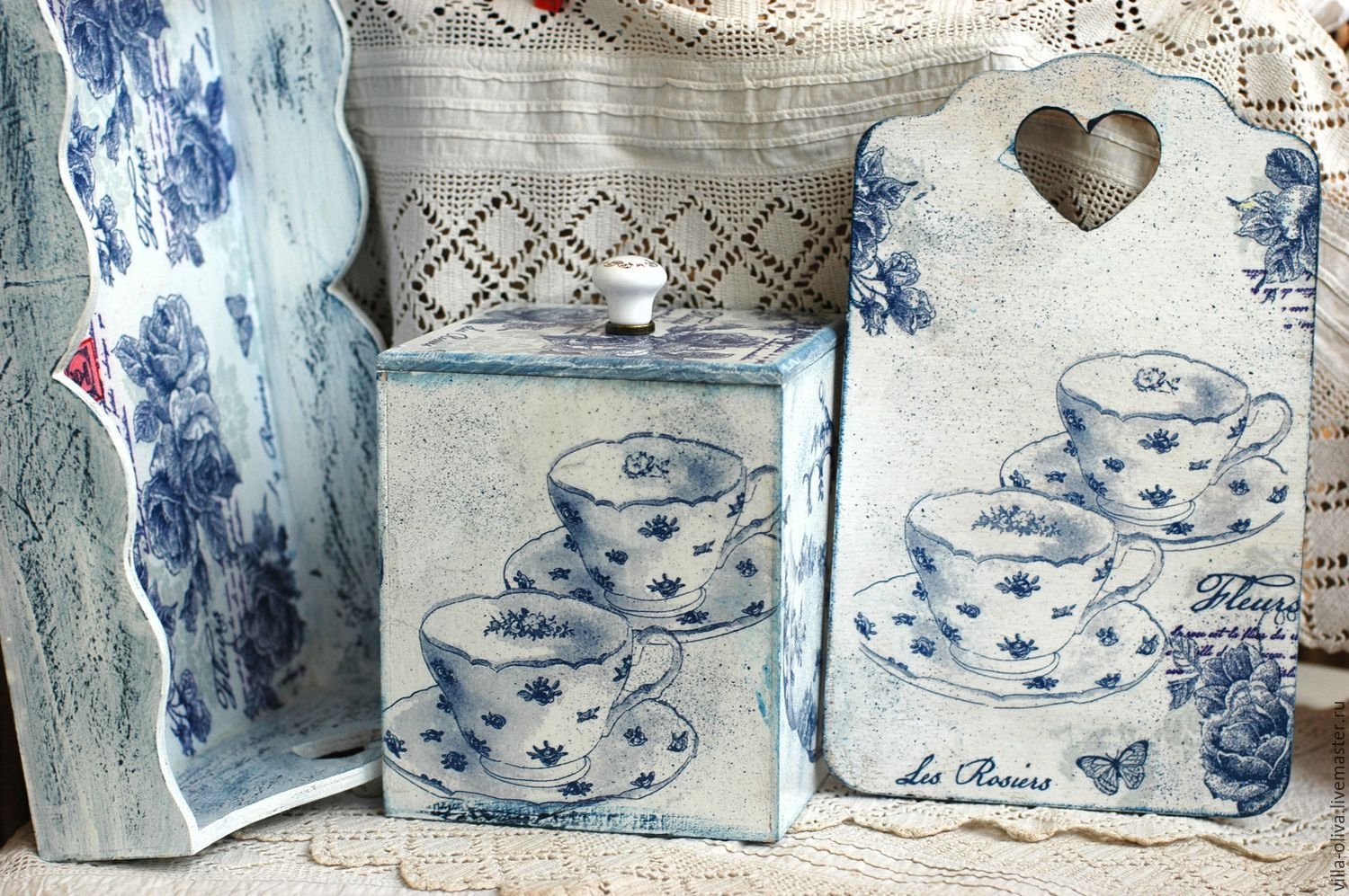 Kitchen set in the style of toile de jouy (a French classic), Kitchen sets, Moscow,  Фото №1