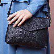 Сумки и аксессуары handmade. Livemaster - original item Bag black textured-2 genuine leather