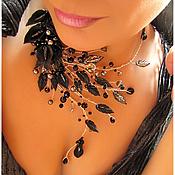"""Украшения ручной работы. Ярмарка Мастеров - ручная работа Глубокое колье """"Ночные каллы"""". Handmade."""