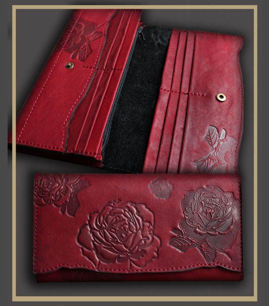 Кошельки и визитницы ручной работы. Ярмарка Мастеров - ручная работа. Купить портмоне (кошелёк) из натуральной кожи 3702 женское. Handmade.