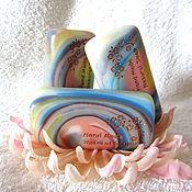 """Косметика ручной работы. Ярмарка Мастеров - ручная работа Мыло """"Рассвет"""", нежный, голубой, розовый, подарки на 8 марта, подарок. Handmade."""