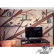 """Картины и панно handmade. Livemaster - original item Interior cork panel """"Family nest». Handmade."""