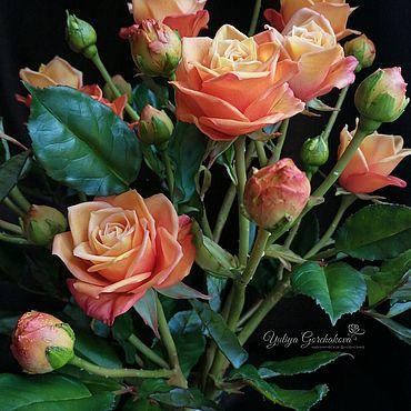 Flowers and floristry handmade. Livemaster - original item Rose from cold porcelain. Handmade.