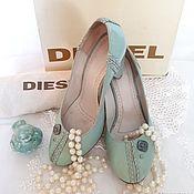 """Обувь винтажная ручной работы. Ярмарка Мастеров - ручная работа Кожаные, брендовые туфли на каблуке """"Люкс"""", Diesel. Handmade."""