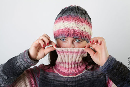Кофты и свитера ручной работы. Ярмарка Мастеров - ручная работа. Купить Свитер меланжевый. Handmade. Одежда для женщин, шерсть, зима