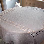 Для дома и интерьера ручной работы. Ярмарка Мастеров - ручная работа Скатерть льняная. Handmade.