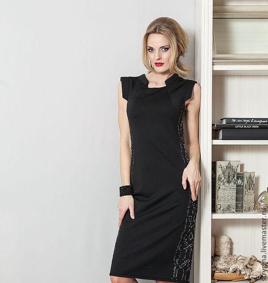Платья ручной работы. Ярмарка Мастеров - ручная работа. Купить платье Gelo. Handmade. Черный, пошив, платье с вышивкой, офис