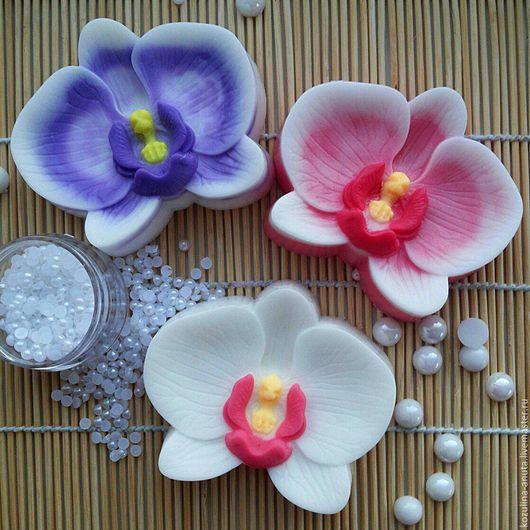 """Мыло ручной работы. Ярмарка Мастеров - ручная работа. Купить Мыло """" Орхидея """". Handmade. Разноцветный, мыло орхидея"""