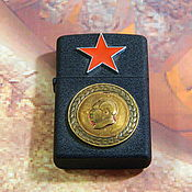 Сувениры и подарки handmade. Livemaster - original item Lighter with symbols and awards of the USSR. Handmade.