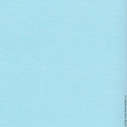 Открытки и скрапбукинг ручной работы. Ярмарка Мастеров - ручная работа. Купить Кардсток текстурированный Светло-голубой 12153. Handmade.