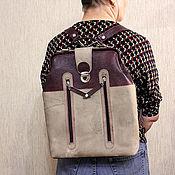 Сумки и аксессуары ручной работы. Ярмарка Мастеров - ручная работа сумка-рюкзак-саквояж-портфель. Handmade.