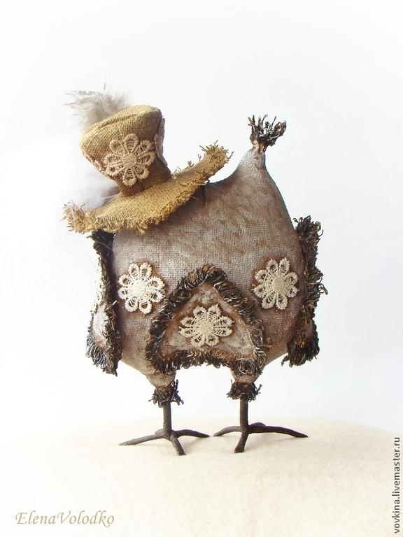 Купить Сова в шляпе - коричневый, текстильная игрушка ...