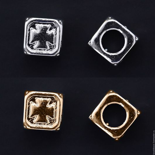 Для украшений ручной работы. Ярмарка Мастеров - ручная работа. Купить Бусина кубик 6 мм. Handmade. Комбинированный
