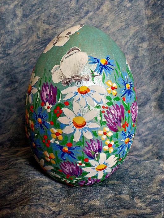 Сувениры ручной работы. Ярмарка Мастеров - ручная работа. Купить Деревянные расписные яйца. Handmade. Яйцо деревянное, гуашь