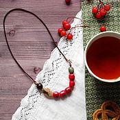 """Украшения ручной работы. Ярмарка Мастеров - ручная работа Бохо-бусы """"Чай с калиной"""". Handmade."""