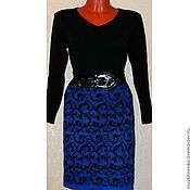 Одежда handmade. Livemaster - original item Skirt knitted Frosty patterns ( jacquard). Handmade.