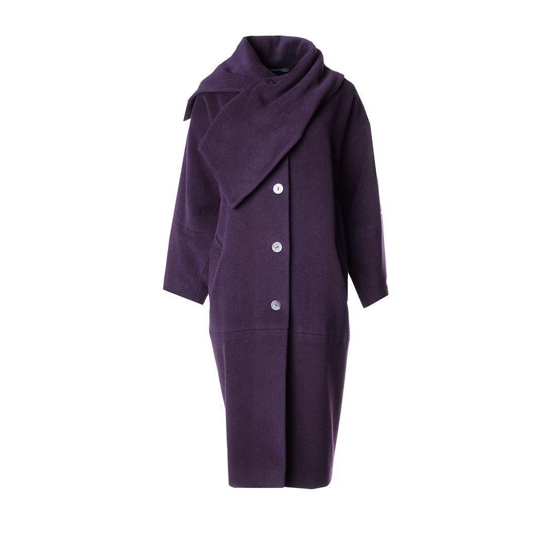 08602dd874f Верхняя одежда ручной работы. Ярмарка Мастеров - ручная работа. Купить  Пальто-кимоно баклажанного