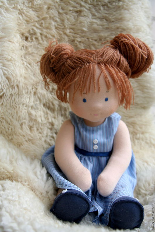 Вальдорфская игрушка ручной работы. Ярмарка Мастеров - ручная работа. Купить Вальдорфская кукла. Handmade. Тёмно-синий, вальдорфская кукла