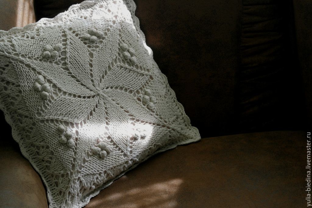 Vintage knitted pillow case cushion 'Vintage' Germany, Pillow, Mogilev-Podolsky,  Фото №1
