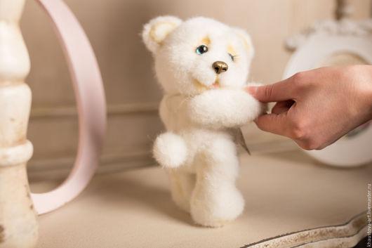 Мишки Тедди ручной работы. Ярмарка Мастеров - ручная работа. Купить Златка. Handmade. Белый, синтепух, искусственная кожа, подарок