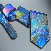 Аксессуары handmade. Livemaster - original item Designer silk tie deep Sea.. Handmade.