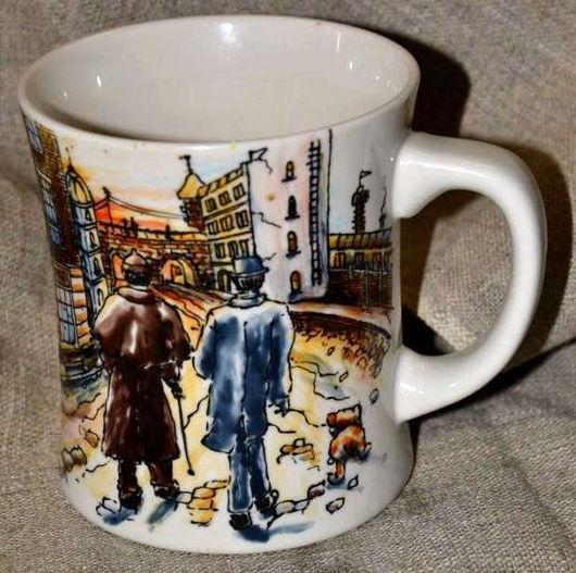 Кружки и чашки ручной работы. Ярмарка Мастеров - ручная работа. Купить Шерлок Холмс и Доктор Ватсон (кружка). Handmade. фарфор