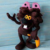 Куклы и игрушки ручной работы. Ярмарка Мастеров - ручная работа Дюдюка  барбидокская и тигрёнок (игрушка валяная). Handmade.
