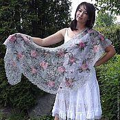 Шали ручной работы. Ярмарка Мастеров - ручная работа PATRICIA - Ажурная шаль. Handmade.