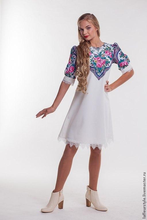 Платья ручной работы. Ярмарка Мастеров - ручная работа. Купить Платье из платков 4. Handmade. Орнамент, вискоза