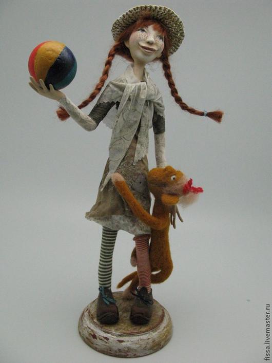 Коллекционные куклы ручной работы. Ярмарка Мастеров - ручная работа. Купить Пеппи - Длинный чулок. Handmade. Кукла ручной работы