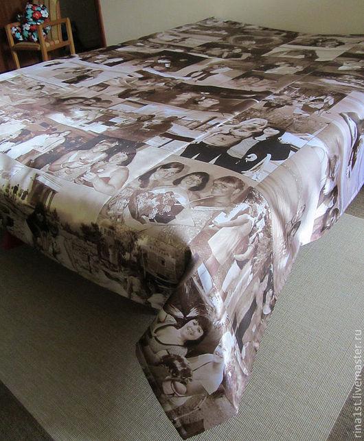 Текстиль, ковры ручной работы. Ярмарка Мастеров - ручная работа. Купить покрывало с принтом. Handmade. Праздник, подушка с принтом