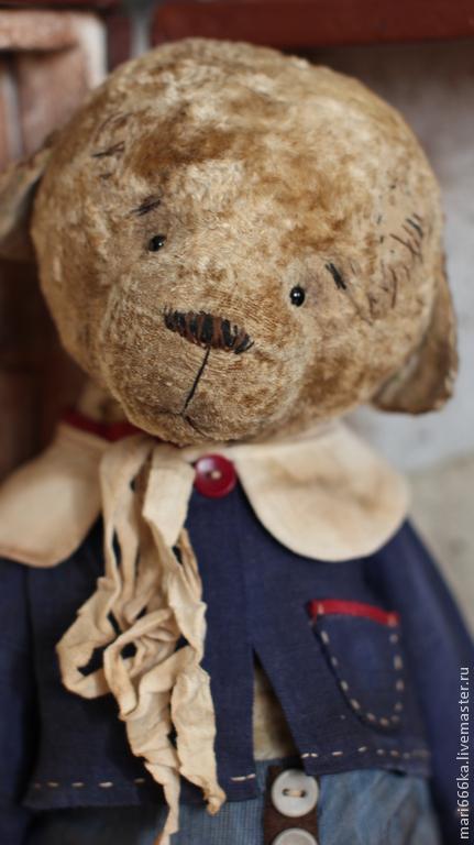 Мишки Тедди ручной работы. Ярмарка Мастеров - ручная работа. Купить Сеня.. Handmade. Бежевый, винтажный стиль, старение