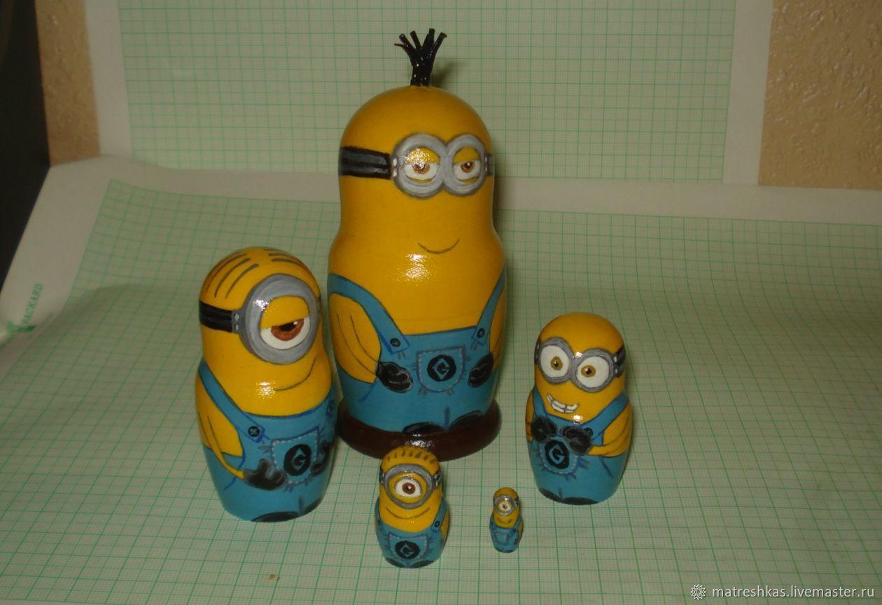 Nursery handmade. Livemaster - handmade. Buy Matryoshka Minions.Toy, minion, manual work of authorship