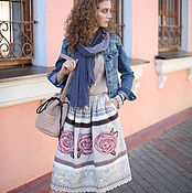 Одежда handmade. Livemaster - original item Author`s skirt