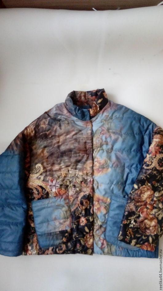 """Верхняя одежда ручной работы. Ярмарка Мастеров - ручная работа. Купить Куртка из стеганной плащевки """"Каро джинс"""". Handmade. Комбинированный"""