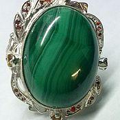 Украшения handmade. Livemaster - original item Ring Malachite Kidney. Handmade.