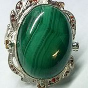 Rings handmade. Livemaster - original item Ring Malachite Kidney. Handmade.